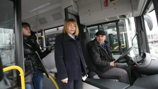 10 нови автобуса тръгват към Витоша, похвали се Фандъкова
