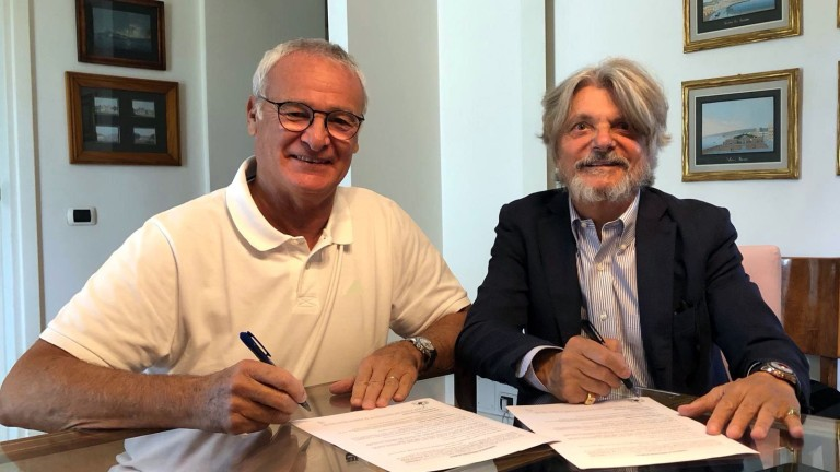Ръководството на Сампдория официално обяви назначението на Клаудио Раниери за