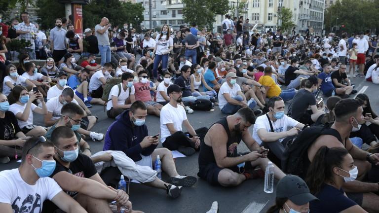Отново протести в Белград