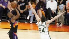 Финикс сломи Милуоки в първия мач от финала в НБА