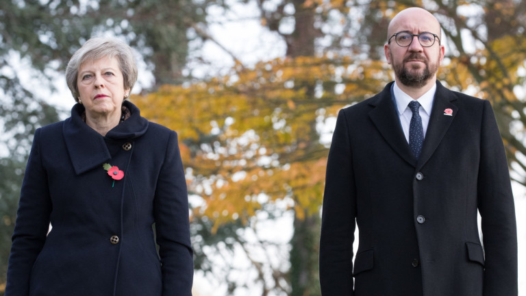 Кола се заби в кортежа на премиерите на Белгия и Великобритания