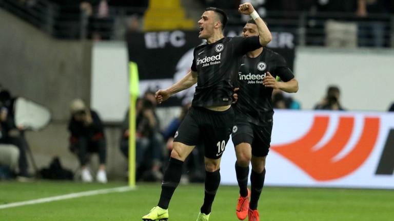 Айнтрахт - Бенфика 2:0, гол на Роде