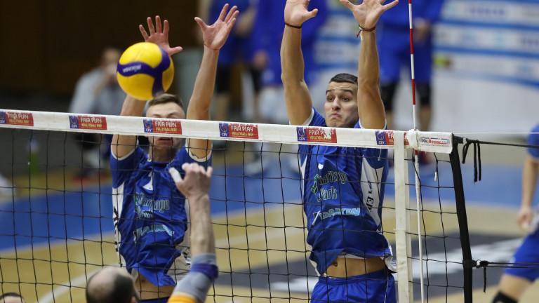 Волейболистите на Левски с първа победа в новата си зала