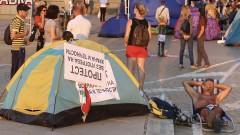 Палатките остават на три ключови кръстовища в София