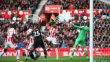 Манчестър Юнайтед и Стоук Сити завършиха 2:2