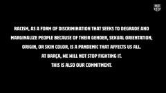 В Барселона осъдиха расизма: Това е пандемия!