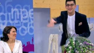 Сашо Кадиев учи в ефир как да почиства след дъщеря си