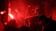 Запалиха знамето на Гърция по време на протест в Македония