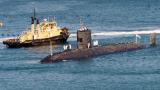 Британска ядрена подводница с поражения след преследване на руски кораби