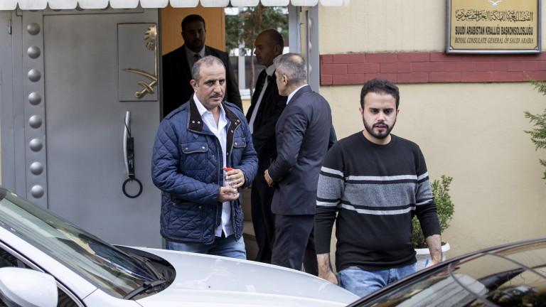 Някои материали в консулството на Саудитска Арабия в Истанбул, където