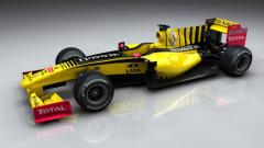 Логото на Lada върху болида на Renault!