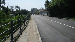 Приключи укрепването на подпорната стена на пътя Бяла - Попово