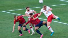 Испания - Полша 1:0, Мората изкупва вината от първия мач