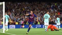 """Магичен Меси и два гола на Суарес донесоха обрат на Барселона срещу Интер на """"Камп Ноу"""""""