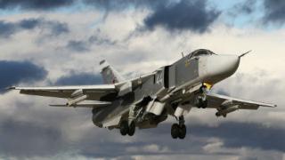"""Руски Су-24 хвърли 1 тон  бетобойни бомби срещу """"Ислямска държава"""""""
