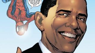 Обама стана герой от комикса за Спайдърмен (галерия)