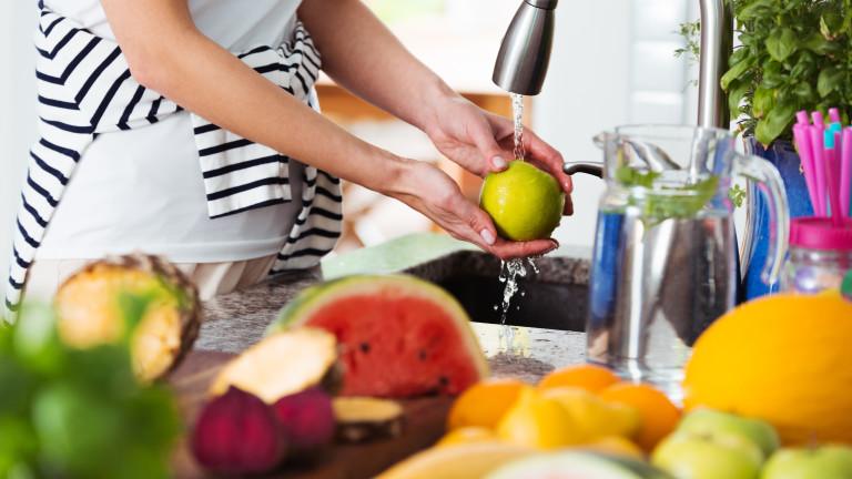 Как правилно да мием плодовете и зеленчуците