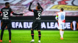Байер (Леверкузен) взе реванш от Славия и спечели групата си в Лига Европа