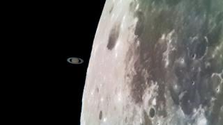 """Мъж засне """"срещата"""" между Луната и Сатурн със Samsung Galaxy S8"""