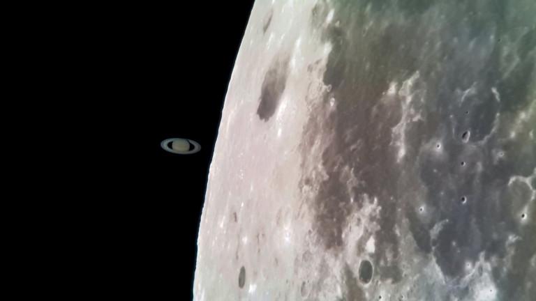 В нощта на 29 март Сатурн и Луната преминаха през