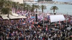 Масови протести срещу Истанбулската конвенция в Хърватия
