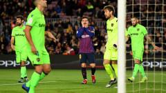 Барселона - Леванте 3:0 (Развой на срещата по минути)