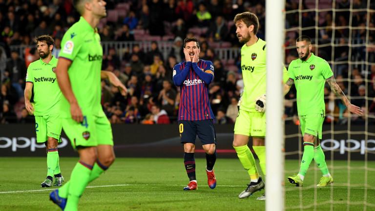 Барселона 3 : 0 Леванте 90+5′ КРАЙ НА МАЧА! Без