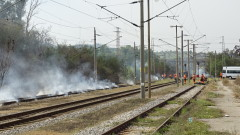 Пожар застраши жп гарата на Бобошево