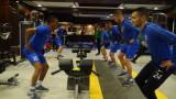 Футболистите на Арда трупат мускулна маса във фитнеса