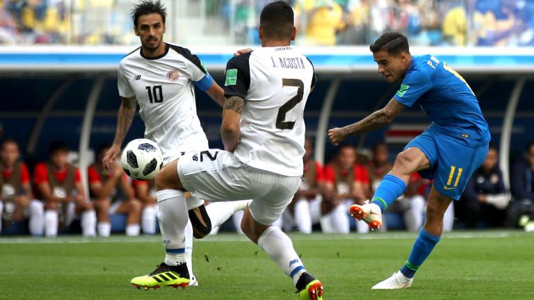 Бразилия 2 : 0 Коста Рика 90+6′ ГОООЛЛЛ ЗА БРАЗИЛИЯ!