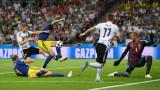 Германия - Швеция 1:1, червен картон за световните шампиони!