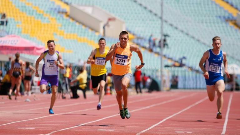 Антонио Иванов спечели серията си с резултат от 20.99 секунди на Държавното първенство
