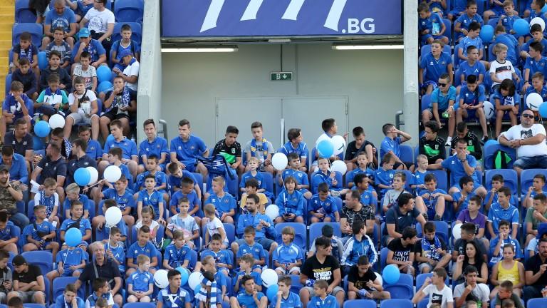 Ето я и публиката на Левски за днешния важен мач!