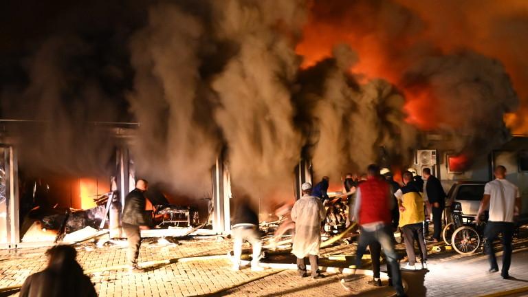 Голям пожар в COVID-центъра в Тетово, има загинали