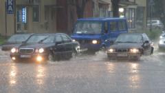 Близо 44 литра/кв. метър дъжд за три часа в Русе