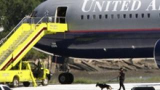 Лек инцидент на американски пътнически самолет