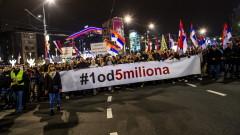 Десетки хиляди сърби протестираха срещу Вучич в Белград