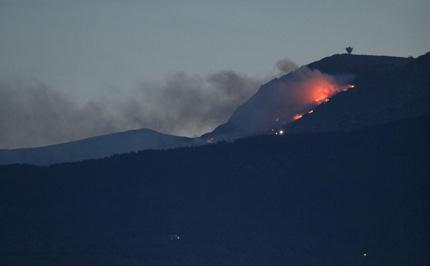 "120 души гасят пожара в Национален парк "" Витоша"""