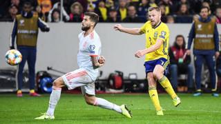 Испания измъкна точка в Швеция и се класира за Евро 2020