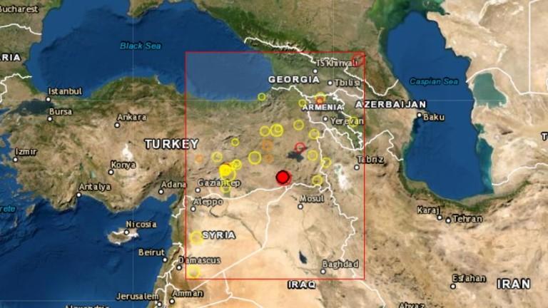 Земетресение с магнитуд 5 по Рихтер е регистрирано в Източна