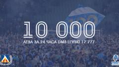 Левски обяви резултатите през първите 24 часа на SMS кампанията