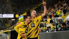 Халанд с два гола, Рейна с три асистенции: Борусия громи пред собствена публика