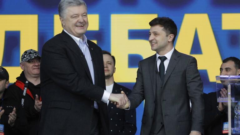 Кандидатът за президент на Украйна Владимир Зеленски обяви по време