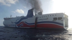 Круизен кораб с 500 души се запали до Пуерто Рико