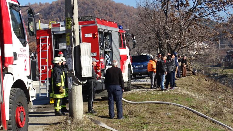 Пожар гори в Пловдивско