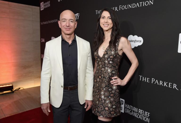 С бившия си съпруг Джеф Безос