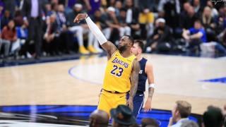 ЛеБрон Джеймс стана четвъртият играч в НБА, отбелязал 33 хиляди точки