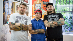 Татуистите на звездите откриха първото студио-галерия