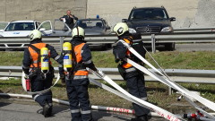 Автомобил пламна на Околовръстното шосе в София