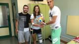 Футболистите на ЦСКА дариха средства на талантлива хандбалистка